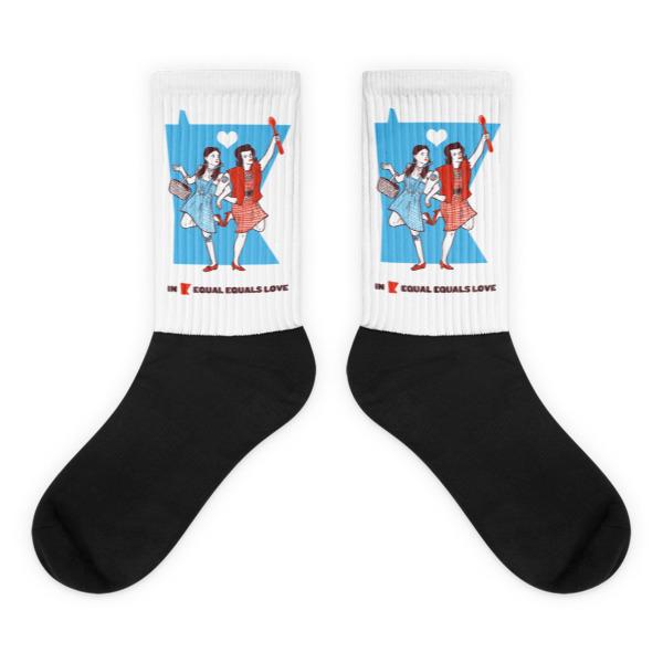 Equal Equals Love Socks Dorothy & Betty