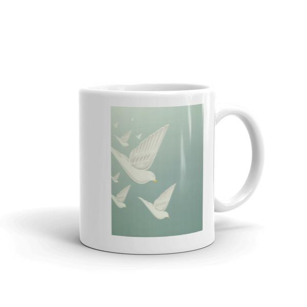 Diving Doves Mug