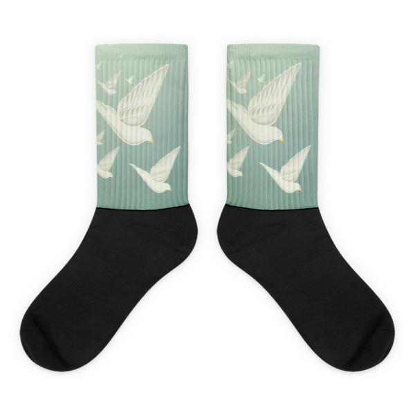 Diving Doves Socks