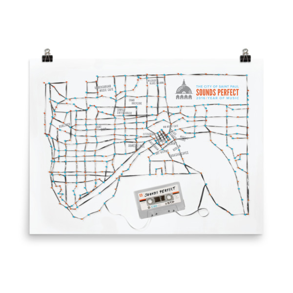 St. Paul Poster Tape Map