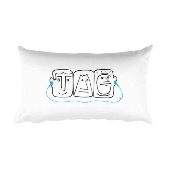 Listen Dude Pillow Rectangular