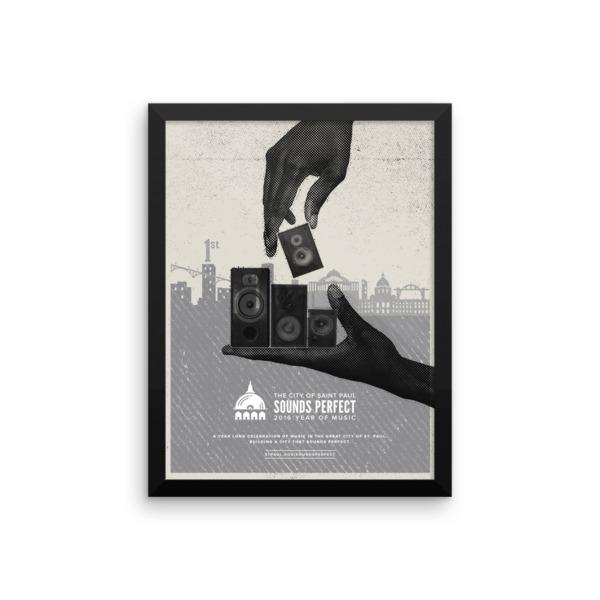 Speaker Construction Poster Framed