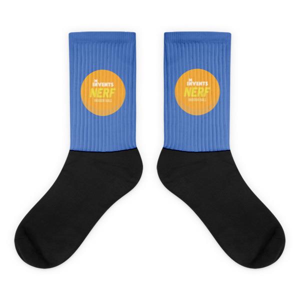 Foam Fun Socks Logo Blue