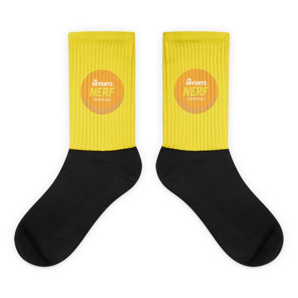 Foam Fun Socks Logo Yellow