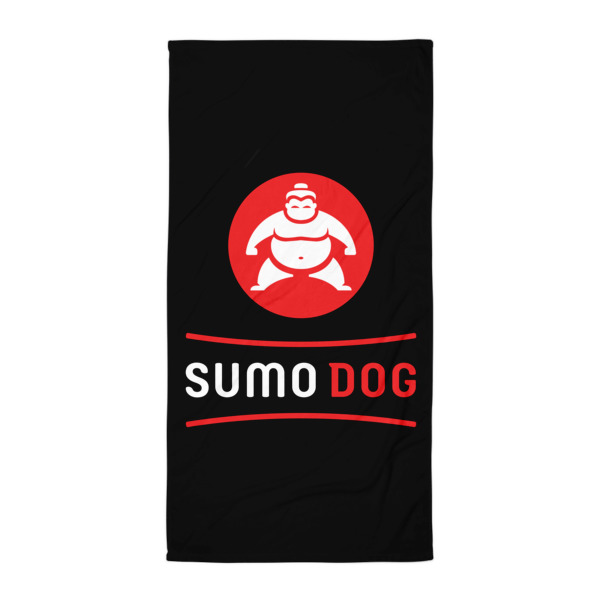 Sumo Dog Beach Blanket Black