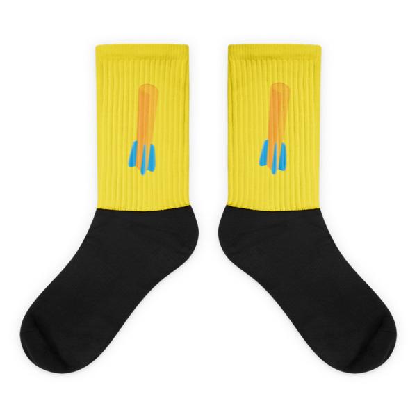 Foam Fun Socks Fin Dart Yellow