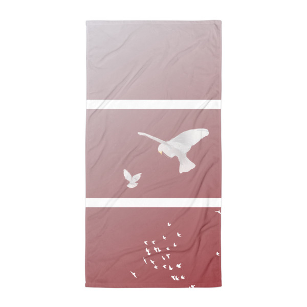 Doves Triptych Beach Blanket