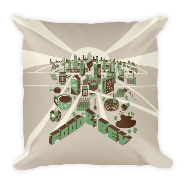 Food Town Pillow