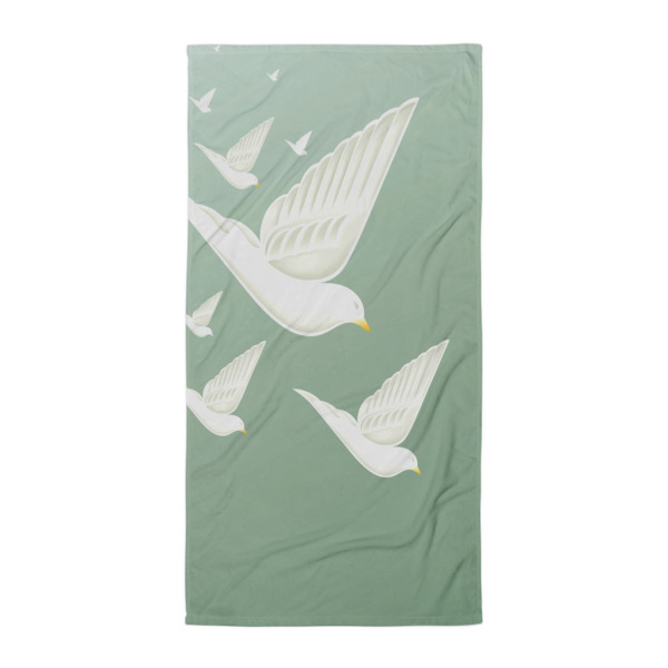 Diving Doves Beach Blanket