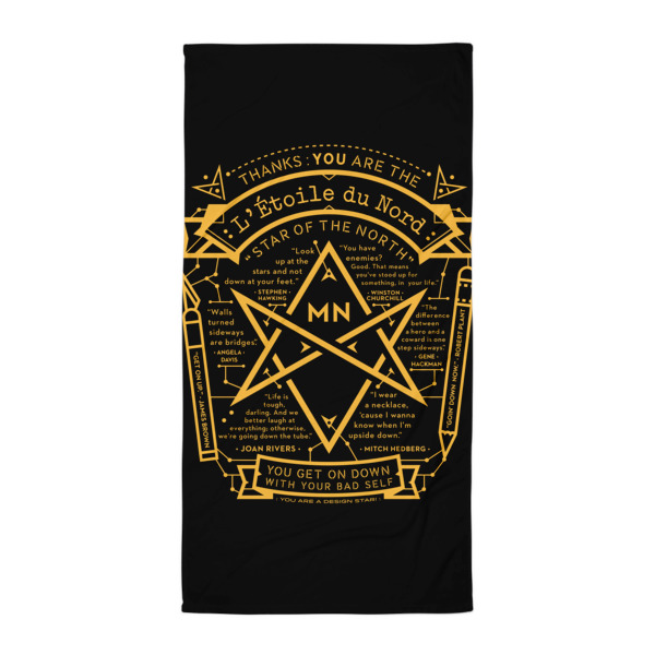 North Star Beach Blanket Black