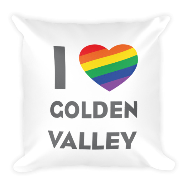 I Pride Golden Valley Pillow White