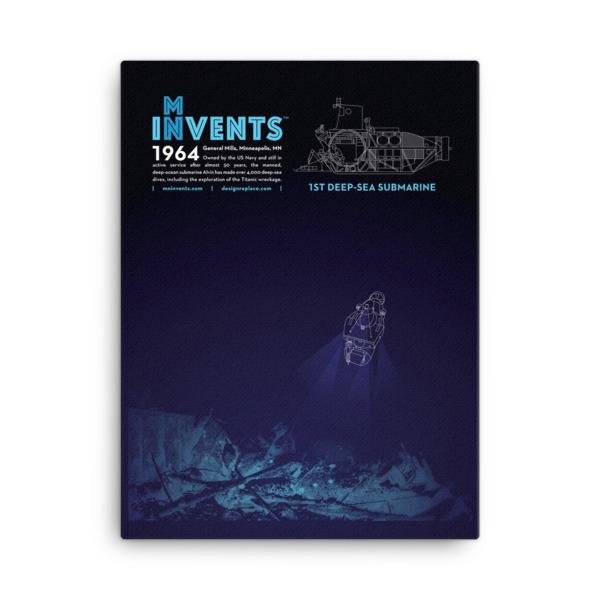 ALVIN Submarine Poster Canvas