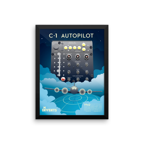 C-1 Autopilot Poster Framed