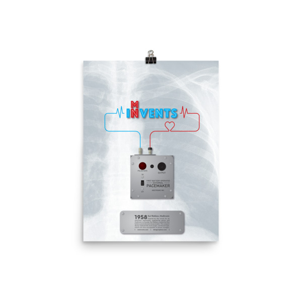 Battery-Operated External Pacemaker Poster
