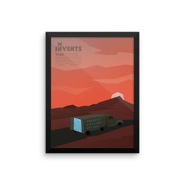 Freight Cooling System Poster Framed