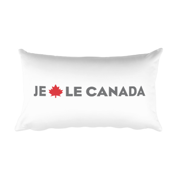 I Maple Canada/Je Érable le Canada Pillow White