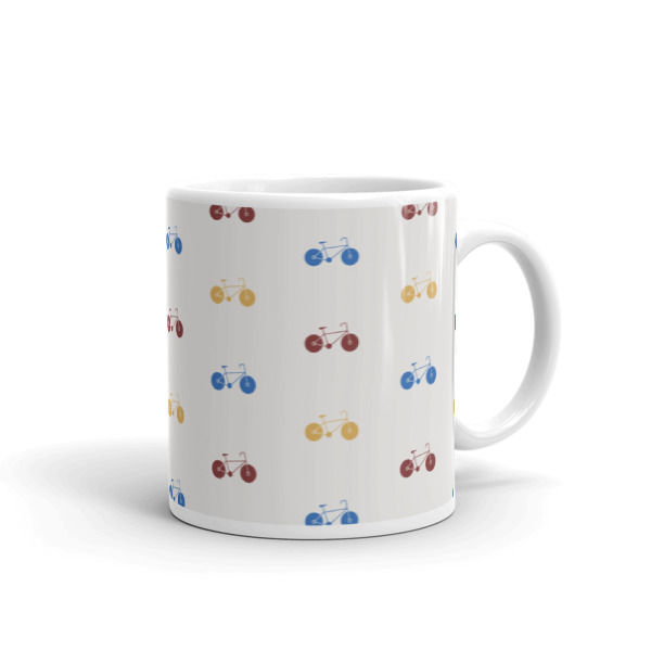 Nokomis Bike Pattern 1 Mug