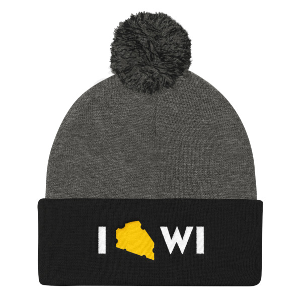 I Cheese Wisconsin Pom Pom Beanie