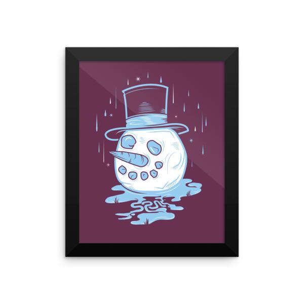 Warm Winter Poster Framed
