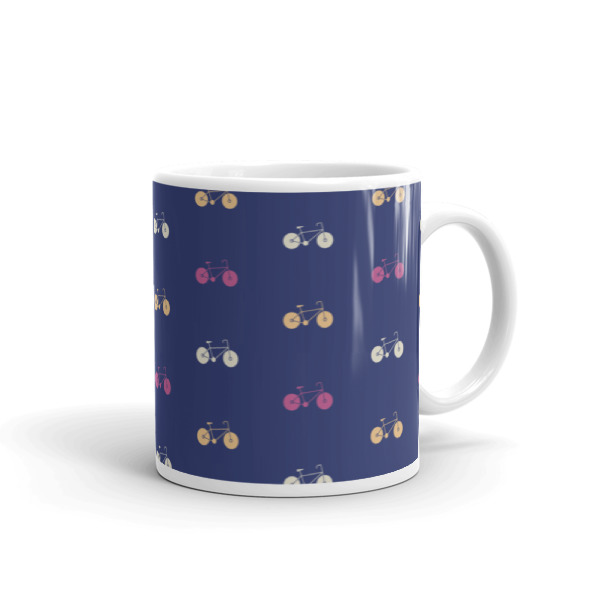 Nokomis Bike Pattern 4 Mug
