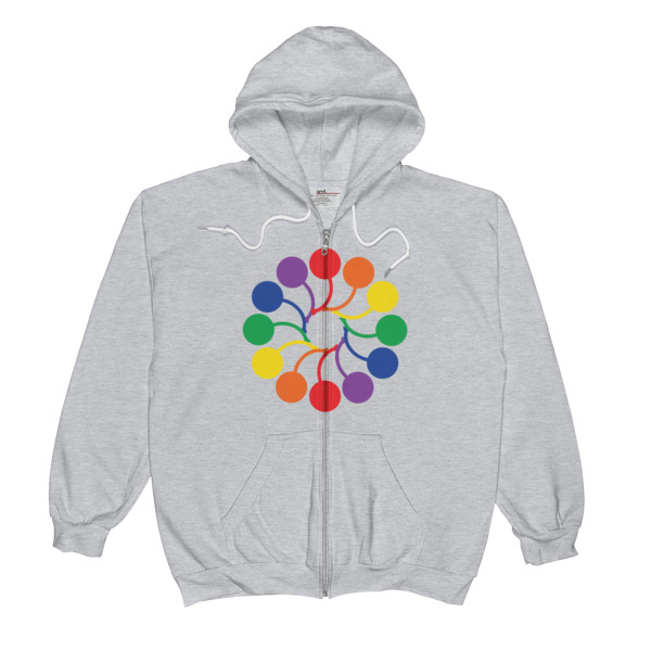I Cherry MPLS Pride Spiral Zip-Up