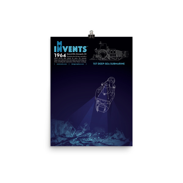ALVIN Submarine Poster