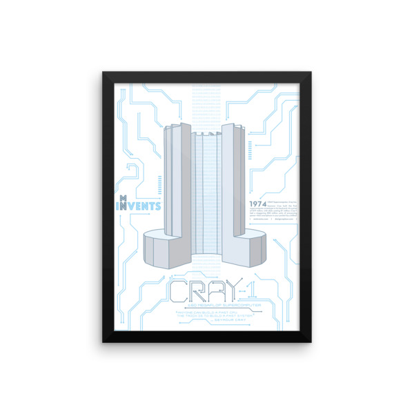 Cray Supercomputer Poster Framed