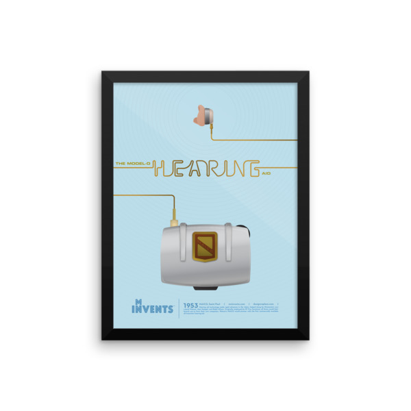 Hearing Aid Poster Framed