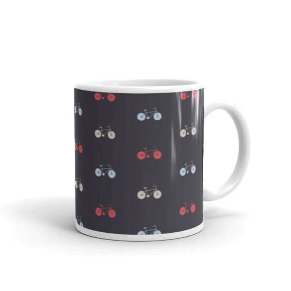 Nokomis Bike Pattern 3 Mug