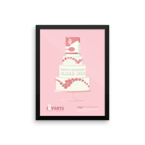 Cake Mix Poster Framed