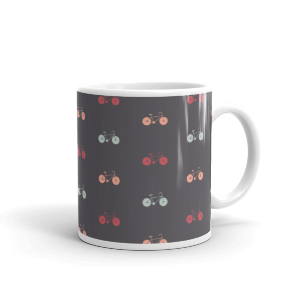Nokomis Bike Pattern 2 Mug