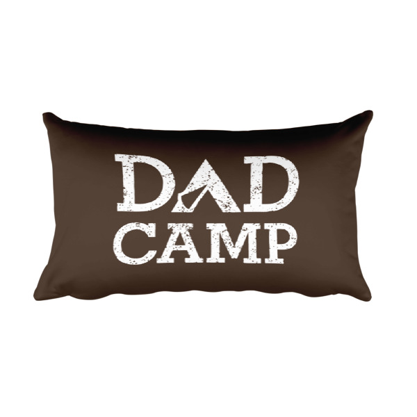 Dad Camp Pillow Dark