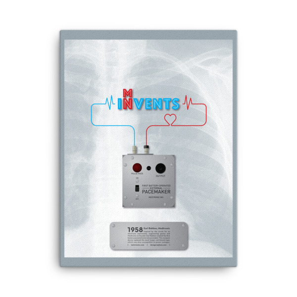 Battery-Operated External Pacemaker Poster Canvas