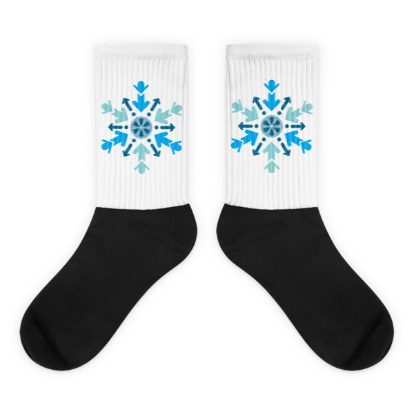Cool Films Arrow Flake Socks
