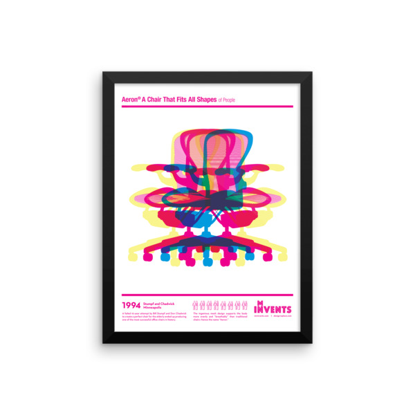 Aeron Chair Poster Framed