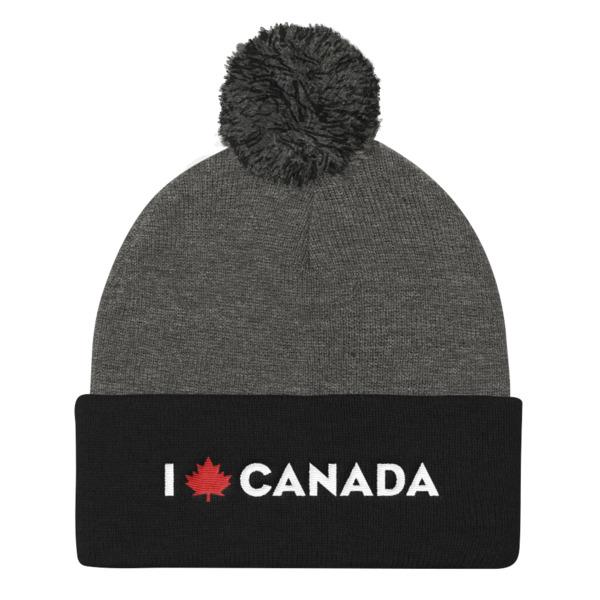 I Maple Canada Pom Pom Beanie