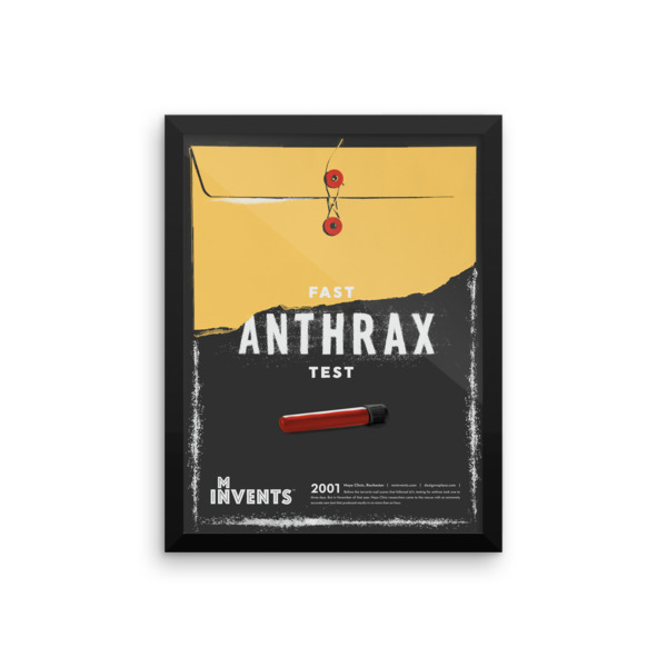Fast Anthrax Test Poster Framed