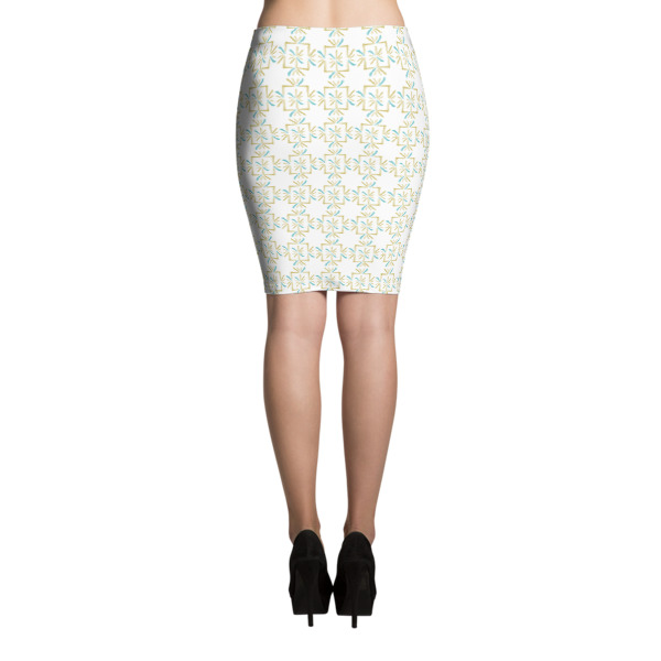Asterisks Grid Skirt