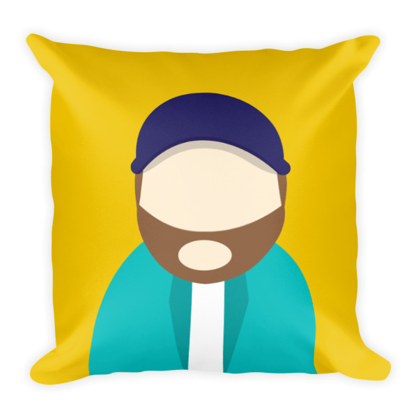 Anonymous Beard Pillow