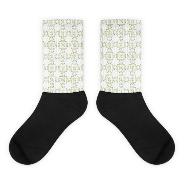 Asterisks Grid Socks