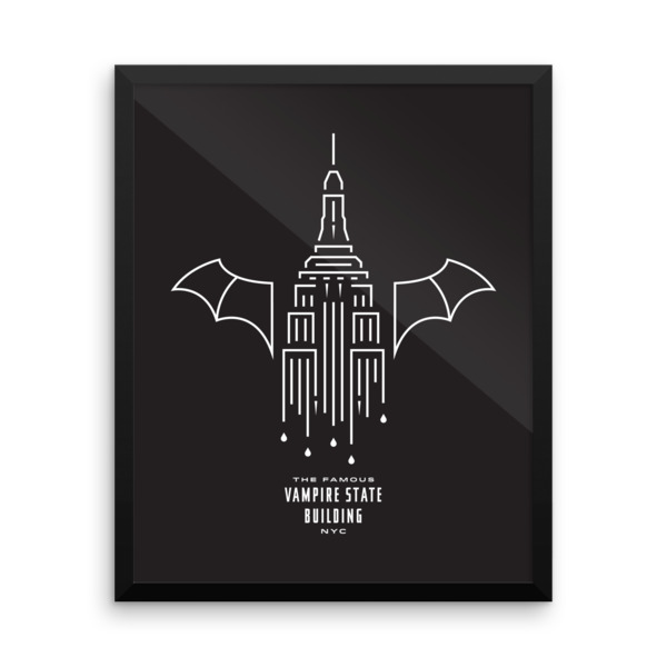 Dripping Fangs Poster Framed