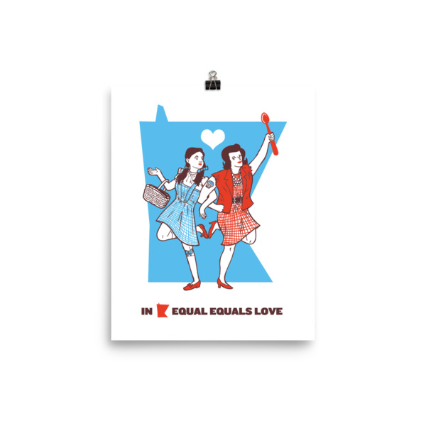 Equal Equals Love Poster Dorothy & Betty