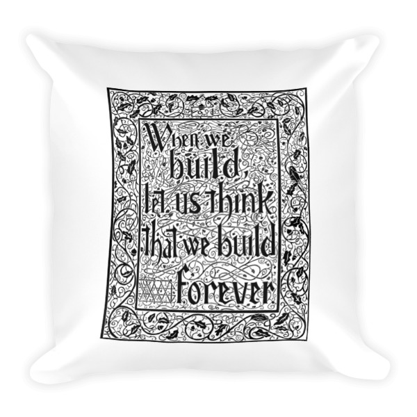 When We Build Pillow