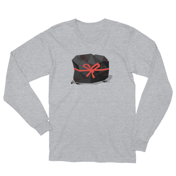 Lump of Coal Shirt Longsleeve Red Ribbon