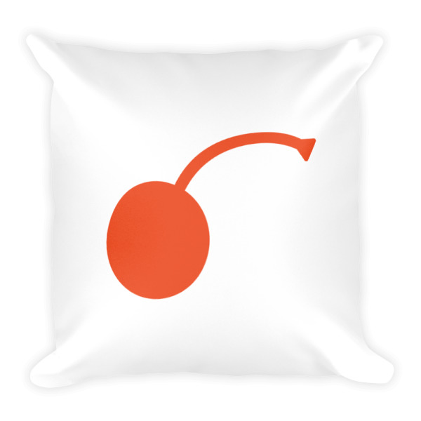 I Cherry MPLS Pillow Square White