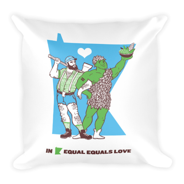Equal Equals Love Pillow Paul & Jolly