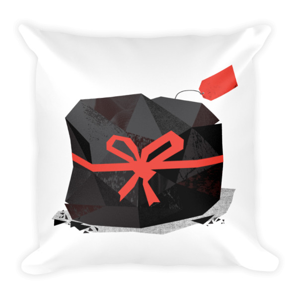 Lump of Coal Pillow White