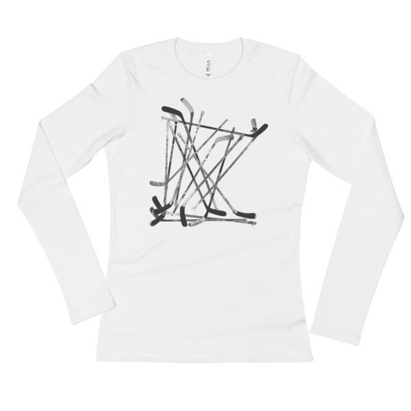 Old Time Hockey Shirt Longsleeve Women MN Sticks