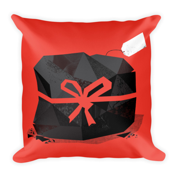 Lump of Coal Pillow Red