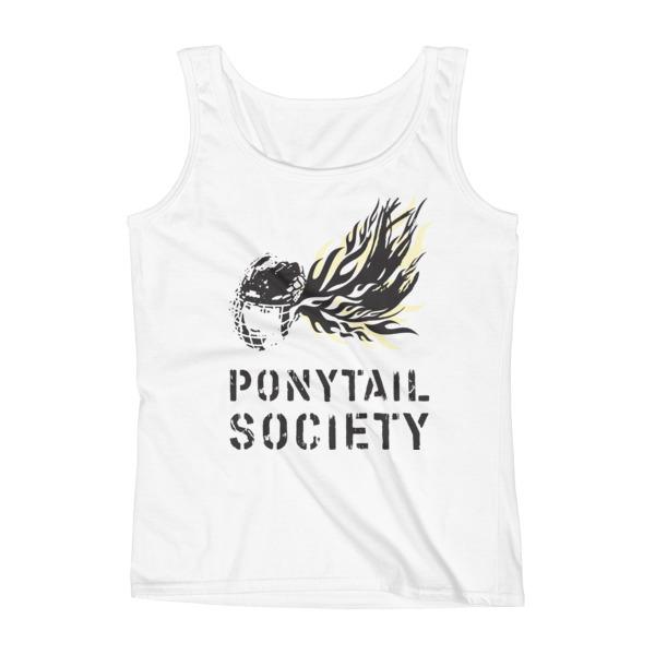 Old Time Hockey Tank Women Ponytail Society